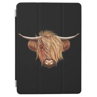 Capa Para iPad Air Retrato ilustrado do gado das montanhas
