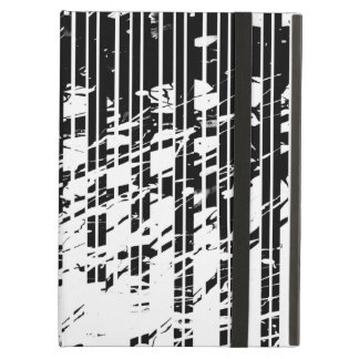 Capa Para iPad Air Riscas preto e branco afligidas