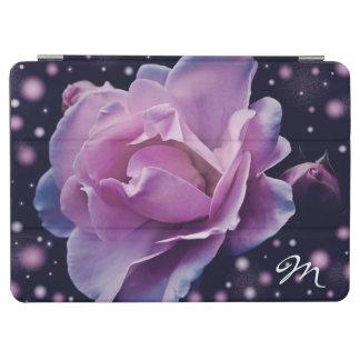 Capa Para iPad Air rosa à moda elegante bonito do roxo da flor |