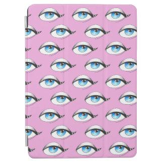 Capa Para iPad Air Rosa do teste padrão de olhos azuis