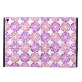Capa Para iPad Air Rosa e teste padrão circular roxo