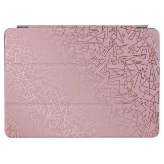 Capa Para iPad Air Rosa geométrico do teste padrão do ouro