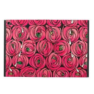 Capa Para iPad Air Rosas de Nouveau da arte do vintage