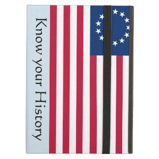 Capa Para iPad Air Saiba seu caso do iPad da bandeira de Betsy Ross