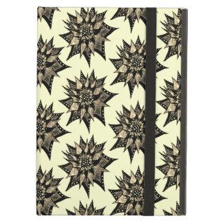 Capa Para iPad Air Sepia gótico teste padrão de flor abstrato cravado