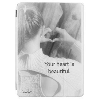 """Capa Para iPad Air """"Seu coração é cobrir esperto"""" do ar bonito do"""
