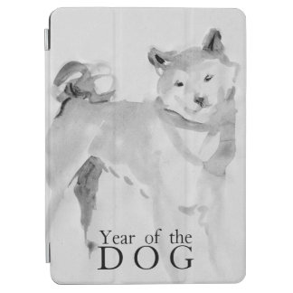 Capa Para iPad Air Shiba Inu que pinta o ano chinês 2018 iPad3 do cão