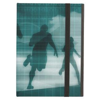 Capa Para iPad Air Silhueta Illustrati do software do perseguidor do