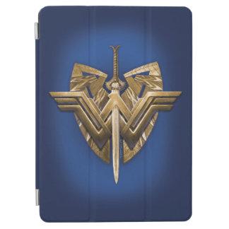 Capa Para iPad Air Símbolo da mulher maravilha com a espada de