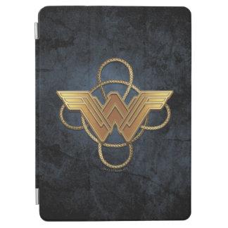 Capa Para iPad Air Símbolo do ouro da mulher maravilha sobre o laço