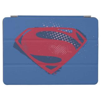 Capa Para iPad Air Símbolo do superman da escova & da reticulação da