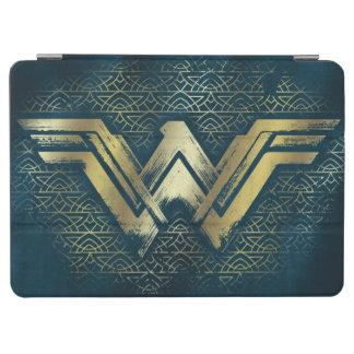 Capa Para iPad Air Símbolo escovado mulher maravilha do ouro