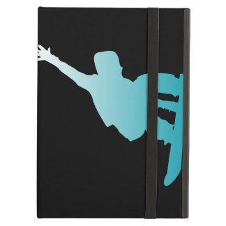 Capa Para iPad Air snowboarder do azul do inclinação