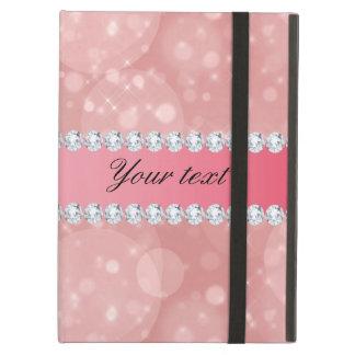 Capa Para iPad Air Sparkles cor-de-rosa e diamantes de Bokeh