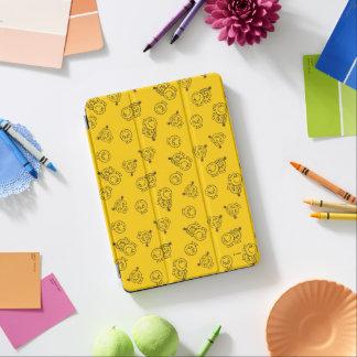 Capa Para iPad Air Sr. Feliz & teste padrão amarelo pequeno da