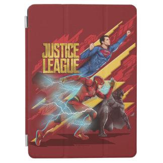 Capa Para iPad Air Superman da liga de justiça |, flash, & crachá de