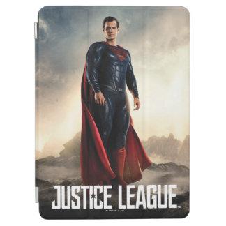 Capa Para iPad Air Superman da liga de justiça | no campo de batalha