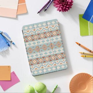 Capa Para iPad Air Terracottas de creme azuis astecas de Ptn IIIb da