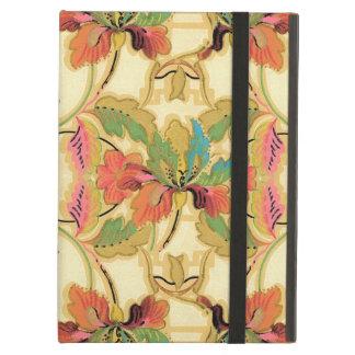 Capa Para iPad Air Teste padrão alaranjado do papel de parede floral