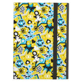 Capa Para iPad Air Teste padrão amarelo brilhante legal do pop art do