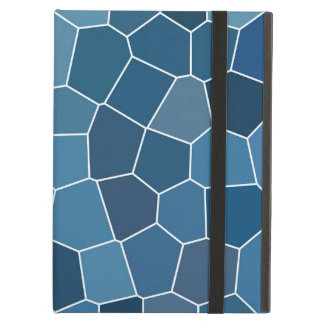 Capa Para iPad Air Teste padrão azul à moda na moda
