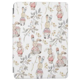Capa Para iPad Air Teste padrão bonito da aguarela dos coelhinhos da