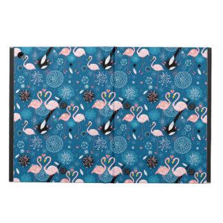 Capa Para iPad Air Teste padrão bonito dos flamingos das flores