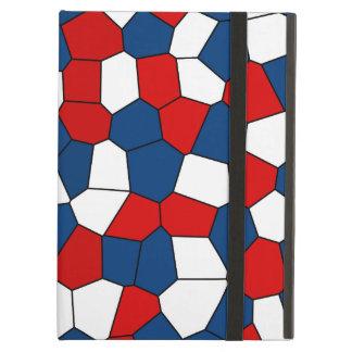Capa Para iPad Air Teste padrão branco azul vermelho