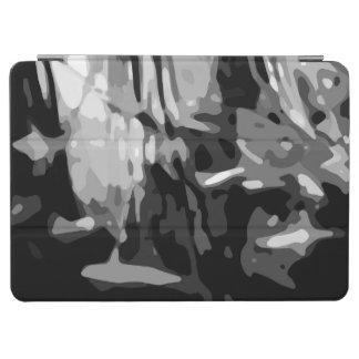 Capa Para iPad Air Teste padrão branco preto na moda do abstrato das