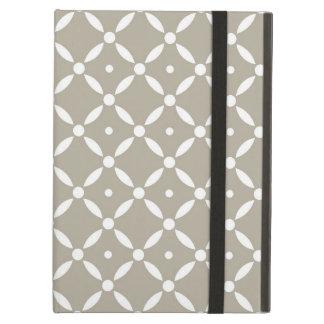 Capa Para iPad Air Teste padrão cinzento e branco de Quatrefoil