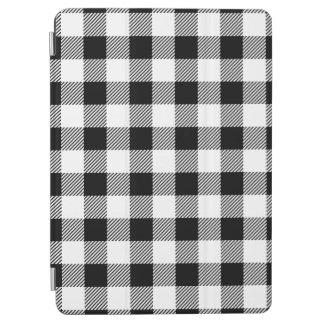 Capa Para iPad Air Teste padrão clássico B&W da xadrez da verificação