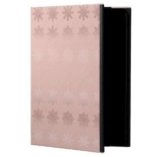 Capa Para iPad Air Teste padrão cor-de-rosa do ouro do floco de neve