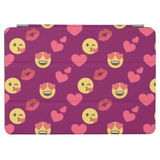 Capa Para iPad Air Teste padrão cor-de-rosa doce bonito do beijo dos
