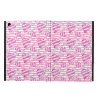 Capa Para iPad Air Teste padrão cor-de-rosa dos corações