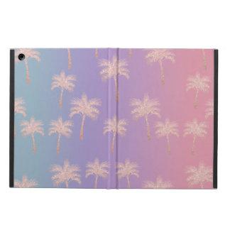 Capa Para iPad Air Teste padrão cor-de-rosa elegante da palma do