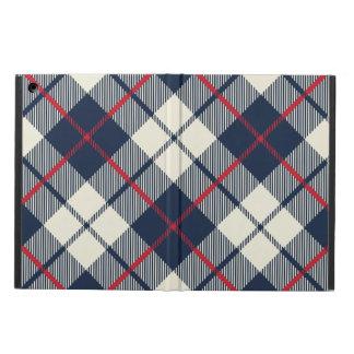 Capa Para iPad Air Teste padrão da xadrez dos azuis marinhos