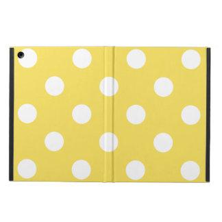 Capa Para iPad Air Teste padrão de bolinhas amarelo