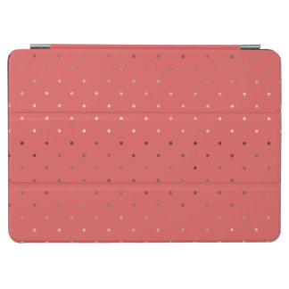 Capa Para iPad Air teste padrão de bolinhas coral do ouro cor-de-rosa