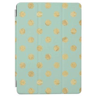 Capa Para iPad Air Teste padrão de bolinhas elegante da folha de ouro