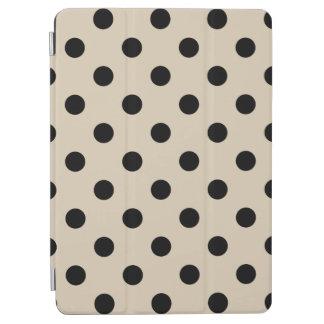 Capa Para iPad Air Teste padrão de bolinhas preto - Tan