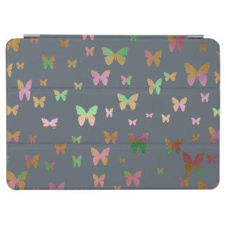 Capa Para iPad Air teste padrão de borboleta cor-de-rosa do ouro do