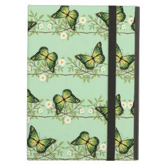 Capa Para iPad Air Teste padrão de borboletas verde