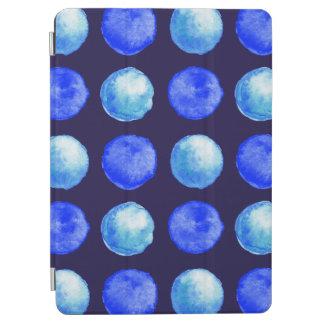 Capa Para iPad Air Teste padrão de pontos da aguarela azul do inverno