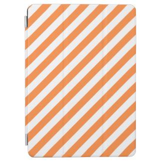 Capa Para iPad Air Teste padrão diagonal alaranjado e branco das