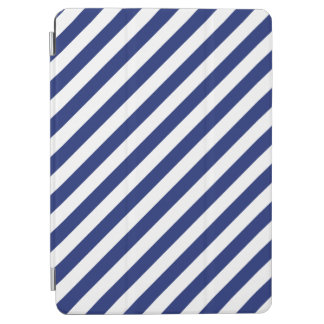 Capa Para iPad Air Teste padrão diagonal do azul marinho e o branco