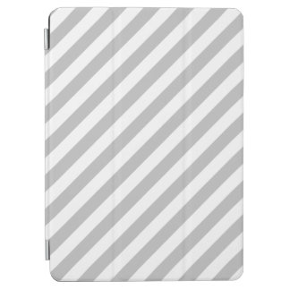 Capa Para iPad Air Teste padrão diagonal do cinza e o branco das