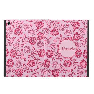 Capa Para iPad Air Teste padrão floral da estrutura de rosas de chá