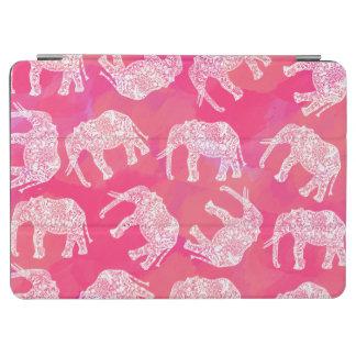 Capa Para iPad Air teste padrão floral tribal colorido cor-de-rosa