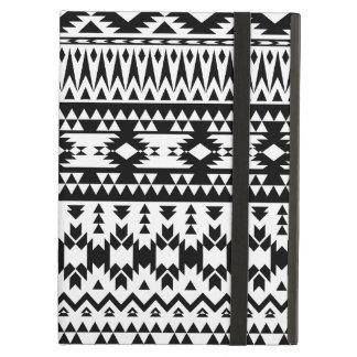 Capa Para iPad Air Teste padrão geométrico asteca preto e branco do