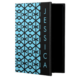 Capa Para iPad Air Teste padrão geométrico azul brilhante